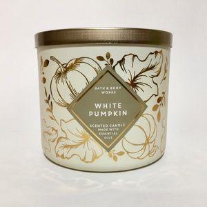 WHITE PUMPKIN 3 Wick Candle